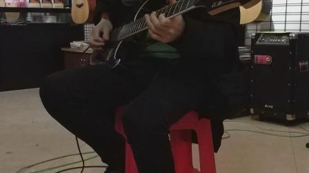 加油站琴行子戈老师电吉他演奏——《岁月无声》