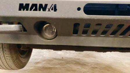 JEEP大切诺基改前小杠,有了锰钢材质前小杠玩沙还怕啥😳