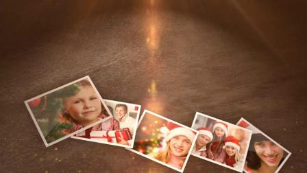 Apple Motion+FCPX模板-照片相册掉落汇聚圣诞树片头 Christmas Photos 18870095