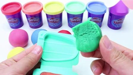 早教色彩认知创意DIY水果冰淇淋,小朋友玩冰淇淋游戏学数数啦