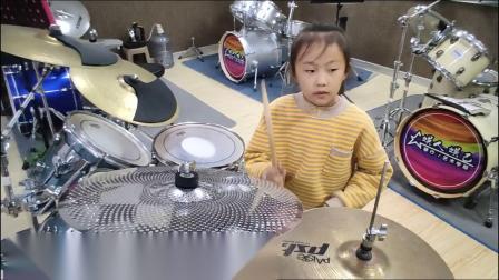 蓬莱架子鼓《鼓舞中国》 张婉琪 课堂激情演奏。蓬莱如是艺术培训学校