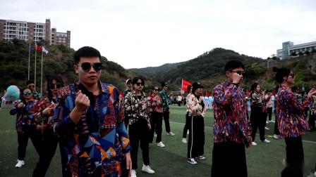 福州外语外贸学院第十四届校运会开幕式艺术与设计学院表演方阵