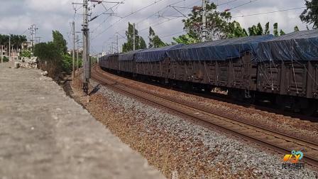 黎湛线HXD1C6495牵引货列通过