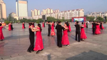 宜州区众乐交谊舞培训中心八周年活动展演 中三《黄玫瑰》