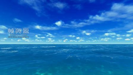 Z708-蔚蓝色的蓝天大海 一群海鸥飞翔美景 高清实拍视频素材