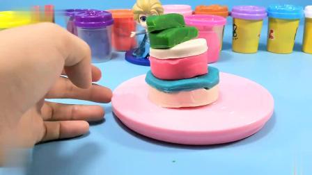 亲子早教手工DIY:冰雪公主制作小房子蛋糕,还有树莓的装饰呢
