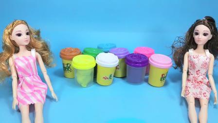 芭比娃娃做草莓巧克力水果蛋糕,食物玩具,亲子早教益智儿童玩具