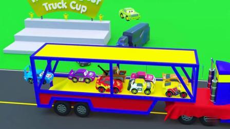 小赛车们一起进行赛跑比赛