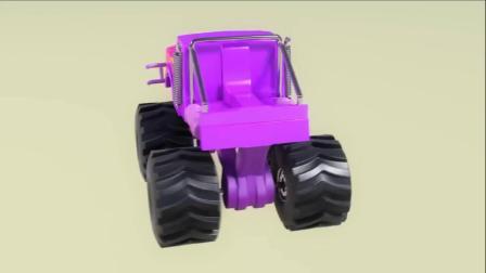 拆开巧克力奇趣蛋得到巨轮汽车玩具