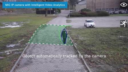 """移动时也可进行分析——MIC IP 摄像机的""""智能追踪""""功能"""
