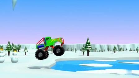 彩色工程车玩具展示