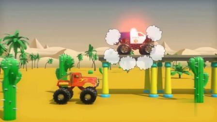 小汽车玩具在道路上行驶