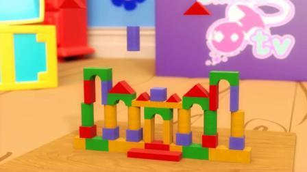 积木搭建小房子玩具