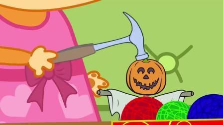 狐狸采苹果遇到变色龙 儿童早教卡通动画