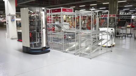 item 精益管料架和移动机器人Magazino SOTO在Miele工厂的应用