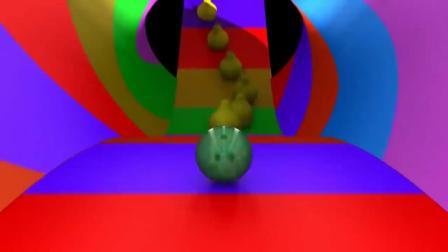 炫酷小球过彩色跑道
