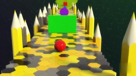 和炫彩小球一起认识不同的水果玩具