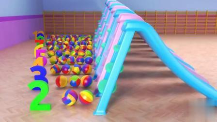 彩色小球和滑梯玩具