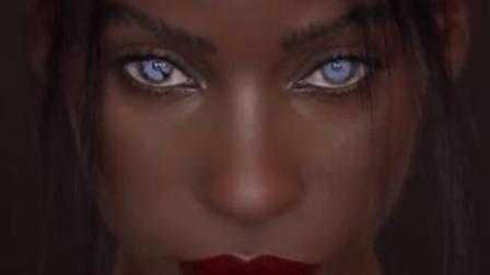 巴巴多斯女模Jalicia Nightengale独特的蓝眼睛,没想到还有这种颜色的~[憧憬] (cr:makeupformermaids)