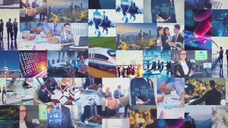 ae片头 pr模板 动态视频 1131 简洁大气照片墙多照片图片汇聚文字logo标志企业片头片尾视频AE模板 会声会影素材