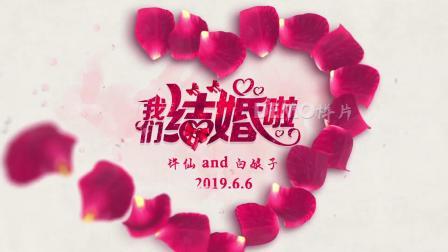 ae片头 pr模板 动态视频 1151 超唯美浪漫红色玫瑰花瓣汇聚成爱心我们结婚啦婚礼婚庆开场视频片头ae模板 会声会影素材