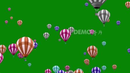 ae片头 pr模板 动态视频 c162唯美卡通热气球蓝屏抠像六一儿童节幼儿园少儿表演晚会舞台演出LED大屏幕背景视频制作后期合成素材 会声会影素材