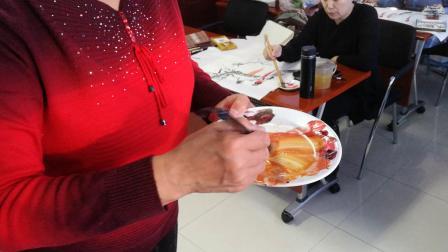 王老师写意花鸟中级:绶带鸟与寿桃的画法2