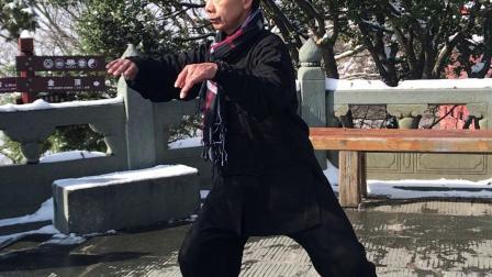 2019...11..28..武当山金顶,沈师傅练习,太极十三式。