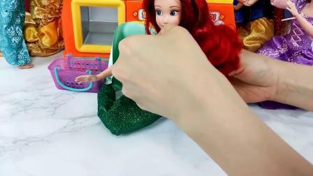 迪士尼公主玩偶爪机游戏玩具美人鱼芭比公主白雪公主冰雪奇缘