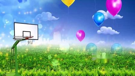 小不点大篮球舞台LED大屏幕高清背景视频素材 包素材网