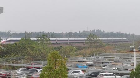 G1156(广州南站-黄冈东站)本务武汉局武汉段,搭载CR400AF型车底,衡阳东站进站