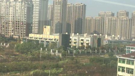 沪昆线- -节奏感十足的达速运行于浙江省杭州市萧山区第二大镇(临浦)