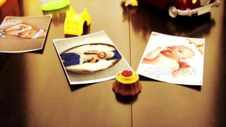 ae片头 pr素材 1366 3D立体卡通积木玩具世界儿童婴儿生日百日宴满月生长电子相册视频AE模板 年会片头 游戏片头