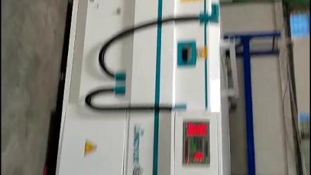 凌越数控全自动双工位覆膜机,橱柜门移门加工生产设备