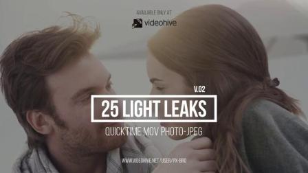 炫光视频素材 25 Light Leaks Pack v2
