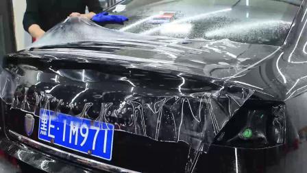 后边盖贴隐形车衣专业技术讲解教学视频  透明膜教程