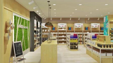 恒峪龙实体店精品文具店展示货架设计方案布局合理好方法漂亮图片
