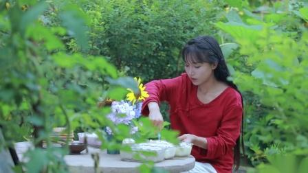 【李子柒】凉冰冰甜丝丝的浆果蛋奶冰激淋,是夏天的味道