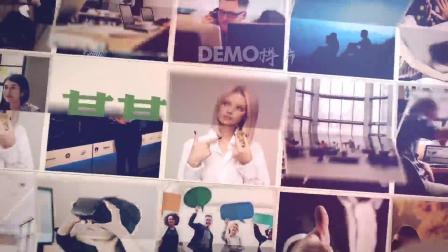 年会视频 鼠年 z15 90张照片图片翻转效果照片墙图片墙图片汇聚文字logo演绎片头ae模板 同学会 毕业视频