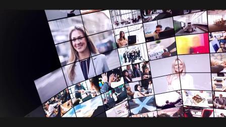 年会视频 鼠年 z16 可放100张照片大屏幕照片拼贴照片墙图片墙视频墙企业公司宣传片图集展示ae模板 同学会 毕业视频
