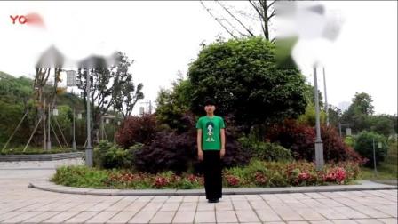 天上的风-蒙族风三步舞《天上的风》韦福强原创广场舞动作分解-