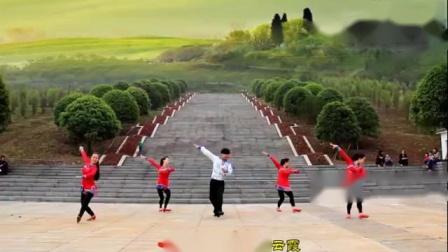 天上的风-韦福强原创广场舞《天上的风》蒙族风三步舞-