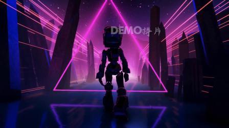 毕业晚会 唱歌跳舞视频 歌曲配乐 c708 动感机器人行走科技感歌舞表演酒吧夜场演出节目舞台LED背景视频素材 大学晚会视频