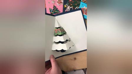 立体剪纸圣诞树制作教程