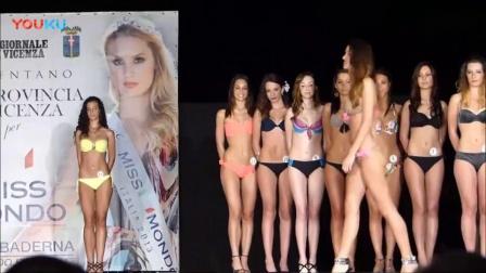 2018Montebello Vicentino纽约世界小姐时装周泳装秀, 模特如此这般走秀, 满分!-_高清