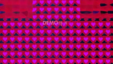 歌曲配乐视频 粒子视频 学校晚会 c912 2K高清画质动感酷炫粉色爱心墙婚礼婚庆七夕情人节歌舞表演灯光秀走秀演出舞台VJ视频素材 毕业晚会