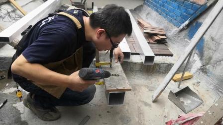 露台改造2-葡萄架铝框的搭建过程
