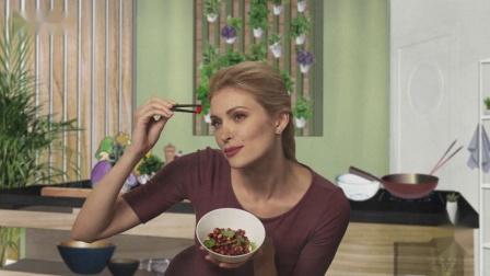《俄罗斯明星学做中国菜》:番茄大虾