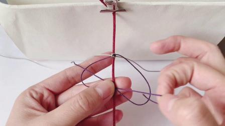 【鹿儿手作】双色单向平结 制作方法 绳结编法教程