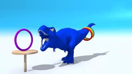 早教色彩启蒙_ 恐龙玩套圈游戏 一起学习颜色吧